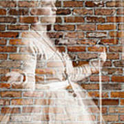 Woman In The Bricks Poster