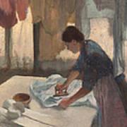 Woman Ironing Poster
