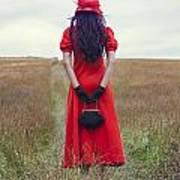 Woman On Field Poster by Joana Kruse