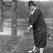 Woman Ready To Play Golf Poster