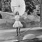 Woman Tightrope Walker Poster