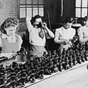 Woman War Workers Assembling Oxygen Poster