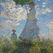 Woman With A Parasol Madame Monet And Her Son  Poster
