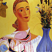 Woman With Shawl Poster