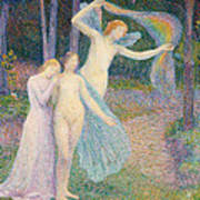 Women Amongst The Trees Poster by Hippolyte Petitjean