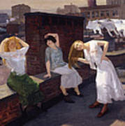 Women Drying Their Hair 1912 Poster