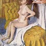 Women Having Her Hair Combed Poster