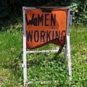 Women Working Poster