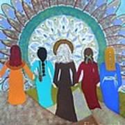 Women's Circle Mandala Poster