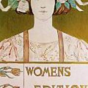 Womens Edition Buffalo Courier Poster