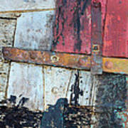 Wood And Metal Abstract Poster by Jill Battaglia