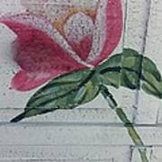 Wood Flower Poster