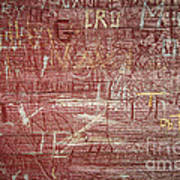 Wood Graffiti Poster
