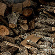 Wood Logs Poster