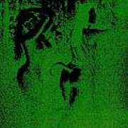 Wood Nymphs In Green Night Sight Poster