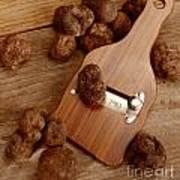 Wood Truffle Slicer Poster