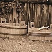 Wooden Buckets Poster