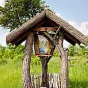 wooden shrine of holy Mother in Poland  Poster