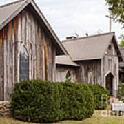 Wooden Country Church Poster