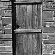 Wooden Door And Stone Wall 1 Poster