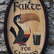 Wooden Guinness Sign Poster