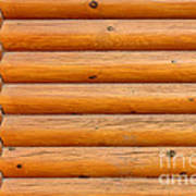 Wooden Logs Wall Background Poster