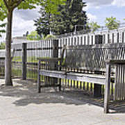 Wooden Park Benches Poster