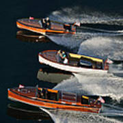 Wooden Runabouts On Lake Tahoe Poster