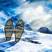 Wooden Snowshoes  Poster