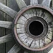 Wooden Wheel Poster