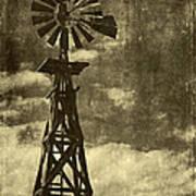 Wooden Windpump I Poster