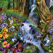 Woodland Forest Fairyland Poster by Alixandra Mullins