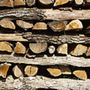 Woodpile. Poster