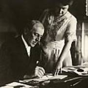 Woodrow And Edith Wilson Poster