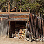 Woodshed On The Holzwarth Historic Site Poster