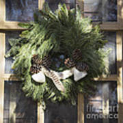Wool And Feather Wreath Poster
