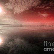 Woolacombe Beach In Red  Poster