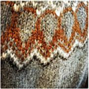 Woolen Jersey detail grey and orange Poster