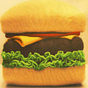 Woolly Burger Poster
