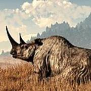 Woolly Rhino And A Marmot Poster
