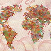 Word Map Digital Art Poster