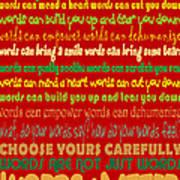 Words Matter Poster