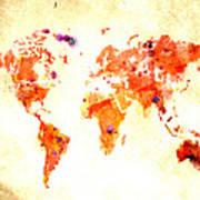World Map 2d Poster