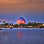 World Showcase Lagoon Sunset Poster
