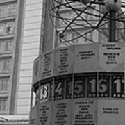 World Time Clock Berlin Poster