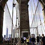 World Trade Center Through The Bridge Poster
