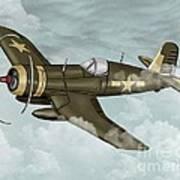 World War 2 Airplane Poster