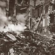 World War I Paris Bombed Poster