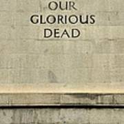 World War Two Our Glorious Dead Cenotaph Poster