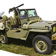 World War Two - Willys - Army Jeep  Poster